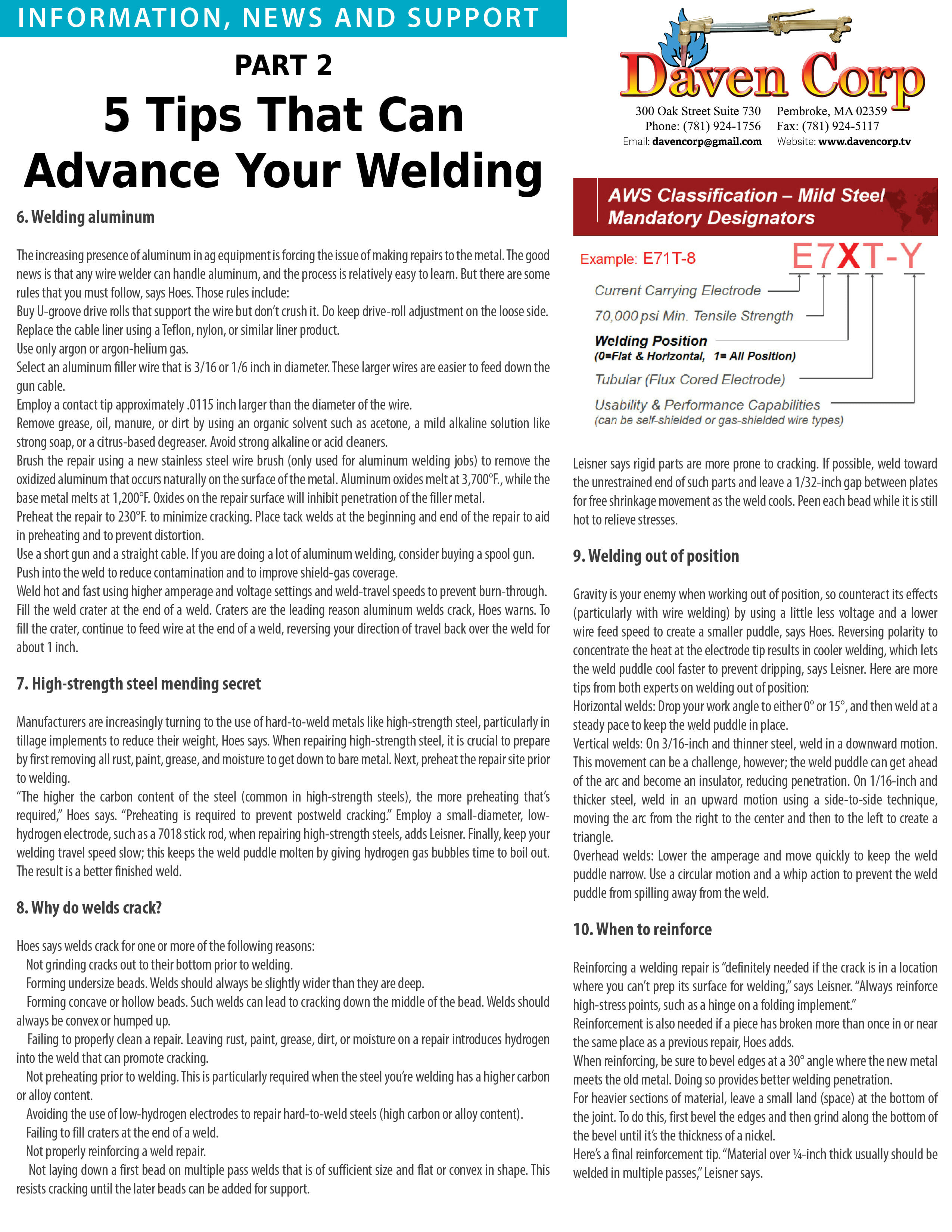 Tips – Welding Supplies, Training, Repairs, Service